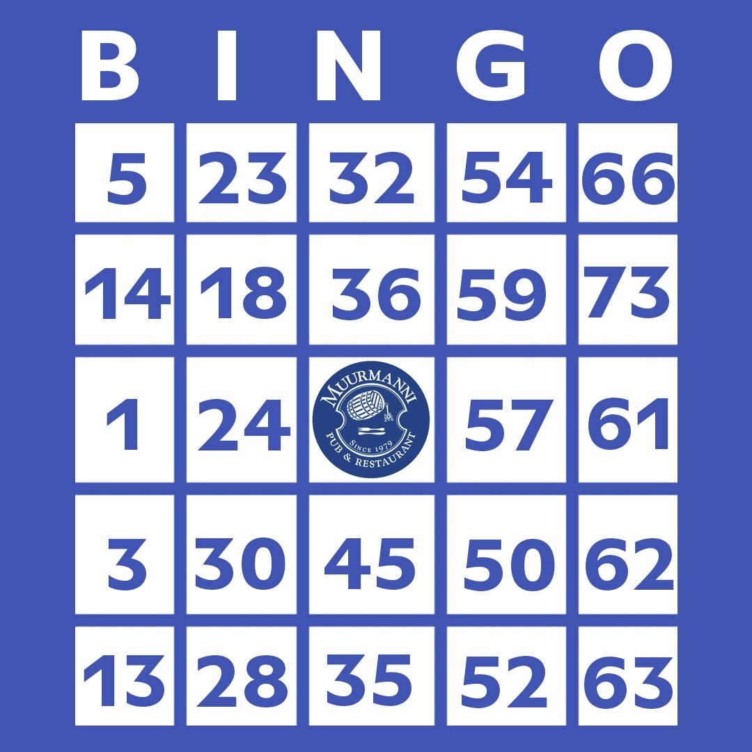 Bingo torstaina klo 18